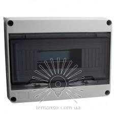 Коробка IP65, под 12 автоматов LEMANSO внутренняя, пластик / LMA7403