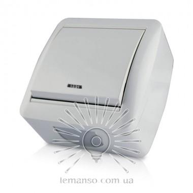 Выключатель накладной 1-й  + LED подсветка LEMANSO Магнолия белый  LMR2009 описание, отзывы, характеристики