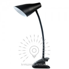 Н/лампа Lemanso 5W 320LM прищепка, 4 уровня регулировки чёрная/ LMN090