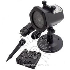 Проектор LED Lemanso 4W RGBW IP65 100-240V+б/п с провод (5м)+сменные карты рис.(12шт) / LM36014, чёрный