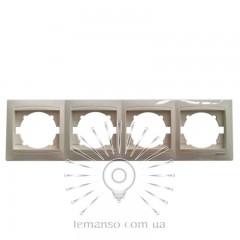 Рамка 4-я LEMANSO Сакура крем вертикальная LMR1134