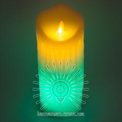 Свеча LED Lemanso 75*175мм RGB 3xAAA (нет в компл.) IP20 / LM36009 (+пульт, еф. пламя)