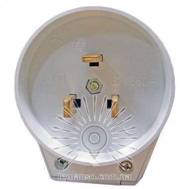 Вилка для электроплит однофазная с заземл белая Lemanso LMA314 описание, отзывы, характеристики
