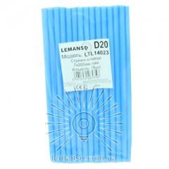 Стержни клеевые 15шт пачка (цена за пачку) Lemanso 7x200мм синие LTL14023