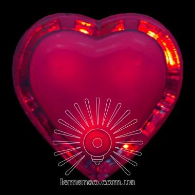 Ночник Lemanso Сердце красный 3 LED / NL4 описание, отзывы, характеристики