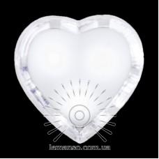 Ночник Lemanso Сердце белый 3 LED / NL130