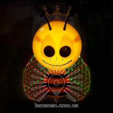 Ночник Lemanso Пчёлка 4 LED*RGB с сенсором жёлтая / NL162 описание, отзывы, характеристики