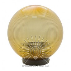 Шар диаметр 200 золотой призматический Lemanso PL2103 макс. 40W  + база с E27