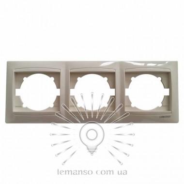 Рамка 3-я LEMANSO Сакура крем вертикальная LMR1133 описание, отзывы, характеристики