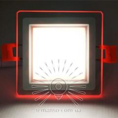 LED панель Сяйво Lemanso 6W 450Lm 4500K + красный 85-265V / LM1038 ква