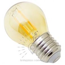 Лампа Lemanso св-ая 2W G45 E27 160LM 2200K 220-240V / LM3803 с янтарной колбой