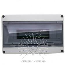Коробка IP65, под 15 автоматов LEMANSO внутренняя, пластик / LMA7404