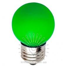 Лампа Lemanso LED G45 E27 1,2W зелёный шар / LM705