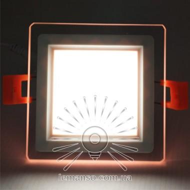 LED панель Сияние Lemanso 9W 720Lm 4500K + розовый 85-265V / LM1039 квадрат + стекло описание, отзывы, характеристики