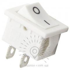 Переключатель Lemanso LSW32 малый белый корпус + белая кнопка 2 полож.с фикс./ KCD1-1-101 6A 250VAC кратно 25 штук