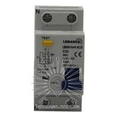 Дифференциальный автомат Lemanso 4.5KA 1п+н 32A 30mA RCBO LBO45