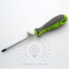 Отвертка LEMANSO PH1x100 LTL40003 серо-зелёная