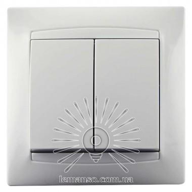 Выключатель 2-й LEMANSO Сакура белый                           LMR1005 описание, отзывы, характеристики