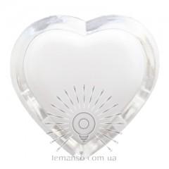 Ночник Lemanso Сердце жёлтый 3 LED / NL4