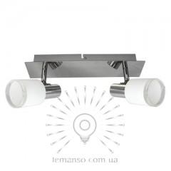 Спот Lemanso ST195-2 двойной E14 хром