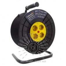 Катушка до 50м кабеля 4 гнезда 16A с/з Lemanso / LMK72001 защита от перегрузки