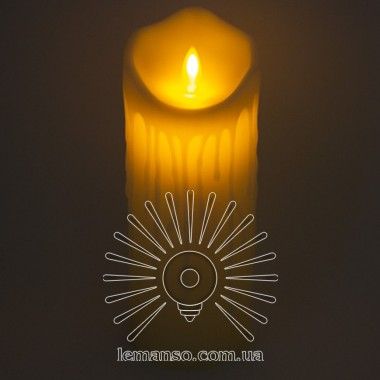 Свеча LED Lemanso 75*200мм 2700K 3xAAA (нет в компл.) IP20 / LM36005 (+пульт, еф. пламя) описание, отзывы, характеристики