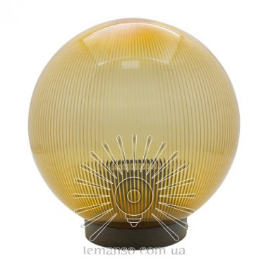 Шар диаметр 200 золотой призматический Lemanso PL2103 макс. 40W  + база с E27 описание, отзывы, характеристики