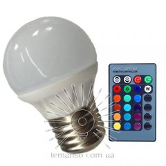 Light bulb Lemanso LED E27 RGB 3W 210LM with remote control 85-265V (48*65mm) / LM736