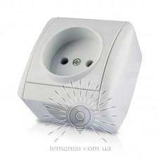 Розетка накладная 1-я LEMANSO Магнолия белая            LMR2003