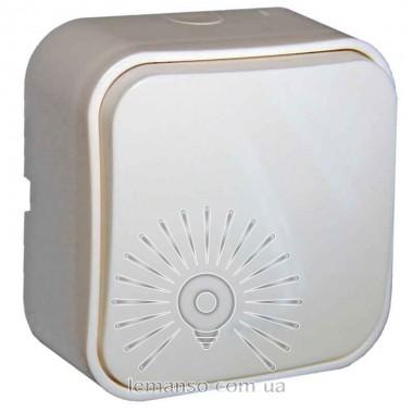 Выключатель накладной 1-й  + подсветка LEMANSO Нота белый  LMR2309 описание, отзывы, характеристики