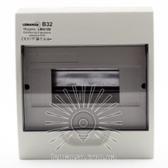 Коробка под 8 автоматов LEMANSO накладная, ABS / LMA109