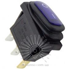 Переключатель Lemanso LSW36 3PIN синый с фикс. и с подсв. IP45 ON-OFF / KCD3-101NW 15A 250VAC