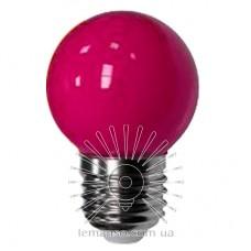 Лампа Lemanso LED G45 E27 1,2W розовый шар / LM705