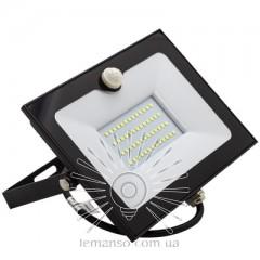 Прожектор LED 50w 6500K IP65 4000LM LEMANSO со встроенным датчиком чёрный/ LMPS55