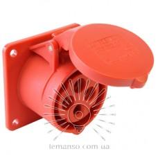 Гнездо врезное LM2008 (ГВ) Lemanso 16А/4п (3п+н) 380-415V IP44 красное / упак=2шт