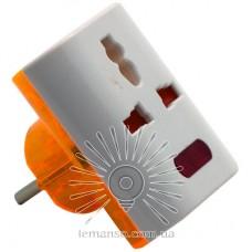 Переходник - адаптер Lemanso с индикатором белый / LMA322