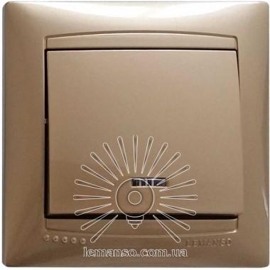 Выключатель 1-й + LED подсветка  LEMANSO Сакура золото  LMR1204 описание, отзывы, характеристики