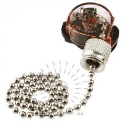 Выключатель Lemanso с цепочкой хром + 10см провод LMA033