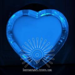 Ночник Lemanso Сердце голубой 3 LED / NL131