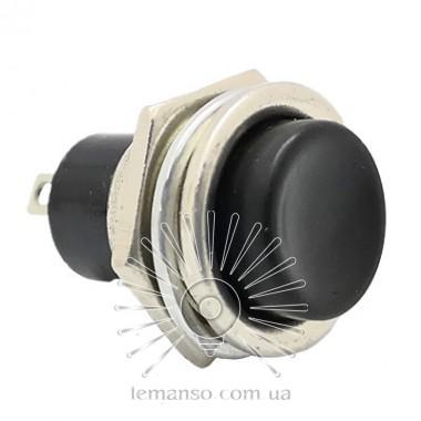 Кнопка Lemanso LSW15 круглая чёрная металл ON-(OFF) / DS-212C описание, отзывы, характеристики