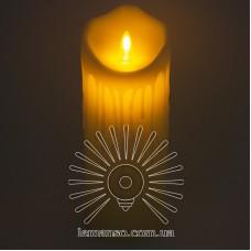Свеча LED Lemanso 75*200мм 2700K 3xAAA (нет в компл.) IP20 / LM36005 (+пульт, еф. пламя)