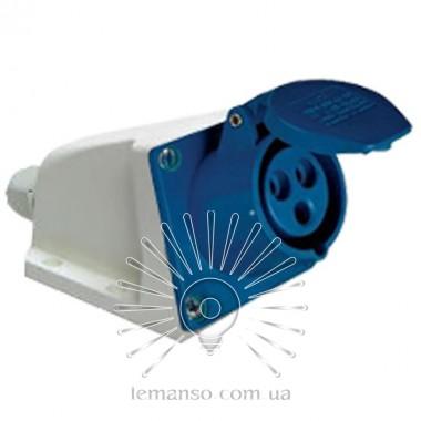 Гнездо стационарное (ГС) Lemanso 16А/3п (2п+н) 220-240V IP44 синее / L описание, отзывы, характеристики