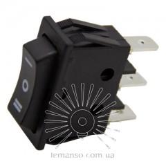 Переключатель  Lemanso  LSW19 узкий чёрный 3 пролож. без фикс./ KCD3-123-4