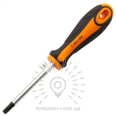 Отвертка LEMANSO T40x100 LTL50008 оранжево-черная описание, отзывы, характеристики