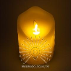 Свеча LED Lemanso 75*100мм 2700K 3xAAA (нет в компл.) IP20 / LM36001 (+пульт, еф. пламя)
