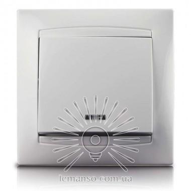 Выключатель 1-й + LED подсветка  LEMANSO Сакура белый  LMR1004 описание, отзывы, характеристики