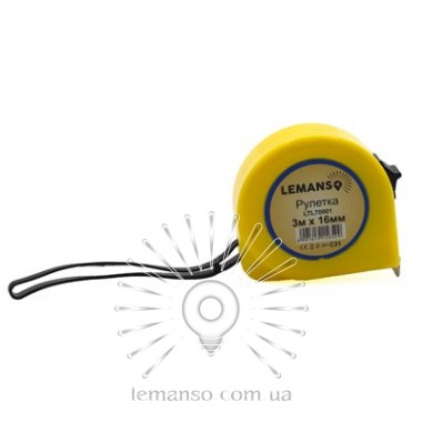 Рулетка LEMANSO 3м x 16мм LTL70001 жёлтая описание, отзывы, характеристики
