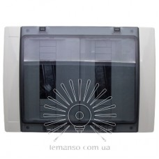 Коробка IP65, под 24 автоматы LEMANSO накладная, пластик / LMA7411