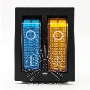 Переключатель  Lemanso  LSW04 двойной синий + жёлтый с подсв. / KCD2-2101N описание, отзывы, характеристики