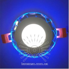 LED панель Lemanso 3+3W с RGB подсветкой 350Lm 4500K 175-265V / LM1014 круг+ пульт